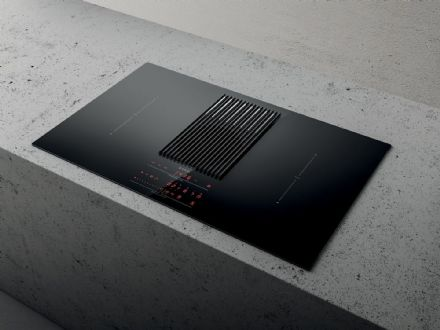 Elica NIKOLATESLA LIBRA-RC-BLK 83cm Recirculation Venting Induction Hob,  built in weighing scales
